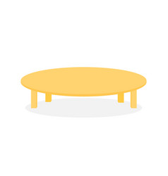 simple wood round table furniture vector image
