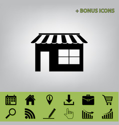 store sign black icon at vector image