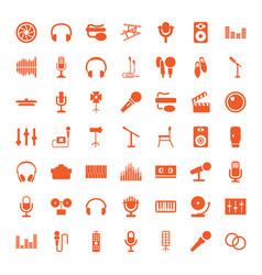 49 studio icons vector image