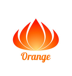 abstract orange flower logo design vector image