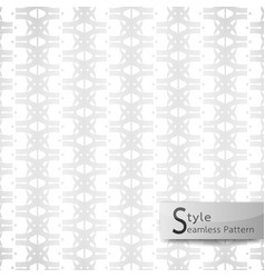 Abstract seamless pattern flower row white vector