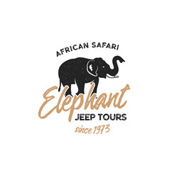 Adventure logo design jeep tours badge template vector