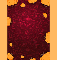 autumn background with pumpkin for shopping sale vector image
