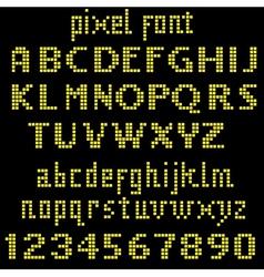 Big yellow pixel font vector
