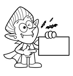 Black and white dracula mascot has been directed vector