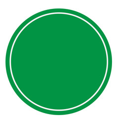 blank green sign empty green symbol on white vector image