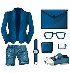 Blue color set flashcard vector