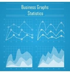 Business graph statistics vector image