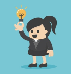 Business Woman get idea vector image