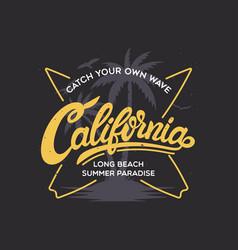 california stylish graphic t-shirt design vector image