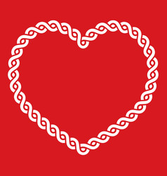 Celtic knot pattern red heart shape - love concept vector