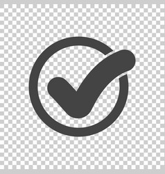 Check mark button icon flat vector