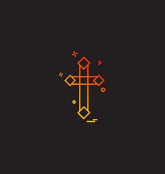christian cross icon design vector image