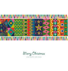 christmas and new year abstract color decoration vector image