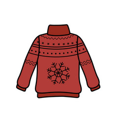 Christmas red ugly sweater party decorative vector