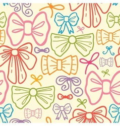 Colorful bows seamless pattern background vector image