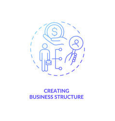 creating business structure blue gradient concept vector image