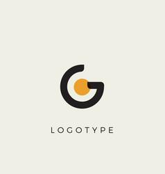 Creative letter g for logo and monogram minimal vector