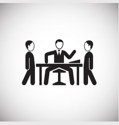 Crisis meeting on white background vector