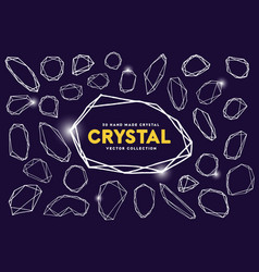 crystal hand drawn crystal vector image