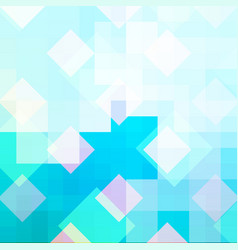 cyan mosaic abstract background with ice pattern vector image