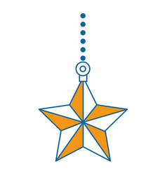 decorative star isolated icon vector image
