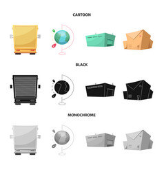 design of goods and cargo symbol set of vector image