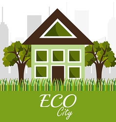 Ecolo city design vector image