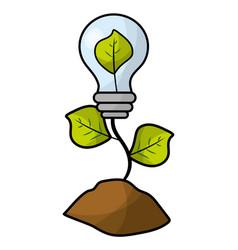 ecological green cartoon vector image