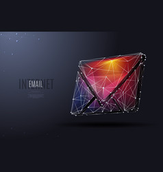 email low poly color vector image