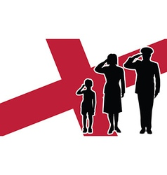 England soldier family salute vector image