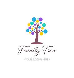 family tree logo design nature symbol vector image