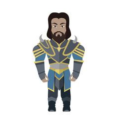 Fantasy knight character vector