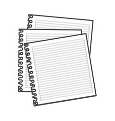 Figure notebooks school icon vector