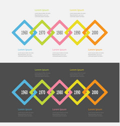 five step timeline infographic set colorful big vector image