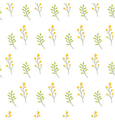 Floral seamless pattern with flowers and leaves vector