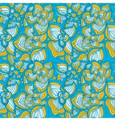 Flowers abstract seamless pattern vector image