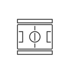 football pitch outline concept icon soccer vector image