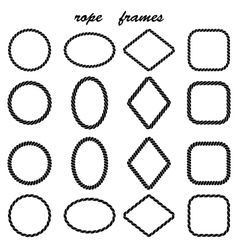 Framework collection of black rope vector