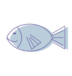 Fresh fish animal to preparation meal vector