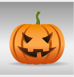 halloween pumpkin with scary face isolated vector image