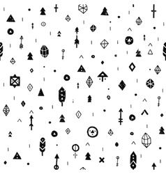 hand drawn tribal background vector image