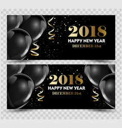 Happy new year 2018 greeting card or banner vector