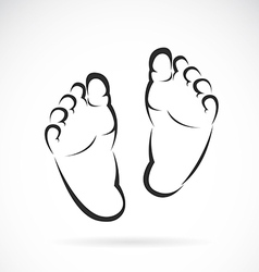 image of Baby foot design vector image
