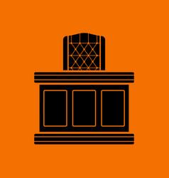 Judge table icon vector