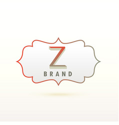 letter z logo design concept vector image