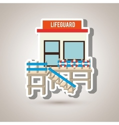 lifeguard tower design vector image