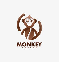 logo monkey gradient colorful style vector image