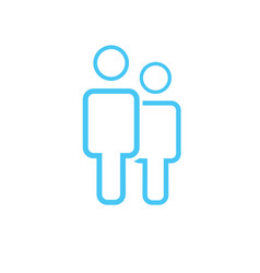 male and female icon thin line for web and mobile vector image