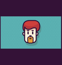 man head logo or icon for app or mobile or web vector image